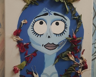 Corpse Bride with dead flowers