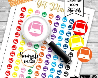 Laptop Icons, Icon Planner Stickers, Printable Planner Stickers, Functional Planner Stickers, Stickers For Planners