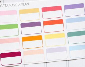 Planner Stickers Half Box Label for Erin Condren, Happy Planner, Filofax, Scrapbooking