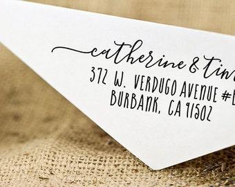 Return Address Stamp, Address Stamp, Custom Calligraphy Stamp - Handwriting Script, Personalised Stamp, Self-Ink Address Stamp