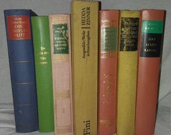 7 antique german books