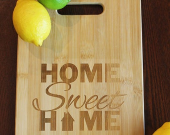 Home Sweet Home Cutting Board, Housewarming gift, Real estate closing, Cheese Board