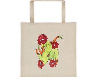 Among the FlowersTote bag