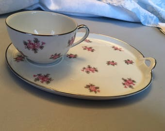 Noritake Palace Rose 5539 Snack Set