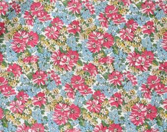 Vintage Floral Cotton Fabric