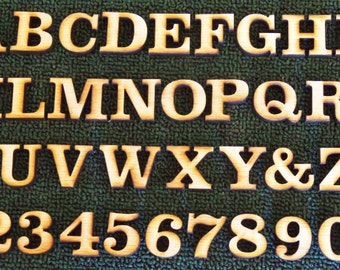 1 inch wood letters and numbers