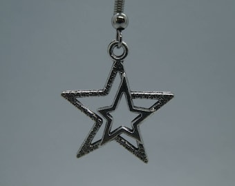 Silver Star Earring