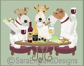 Dogs WINEing - Fox Terrier-Wire
