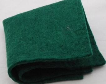 "100% Wool Felt Fabric - Approx 3mm - 5mm Thick - 30cm / 12"" Square Sheet - Dark Green"