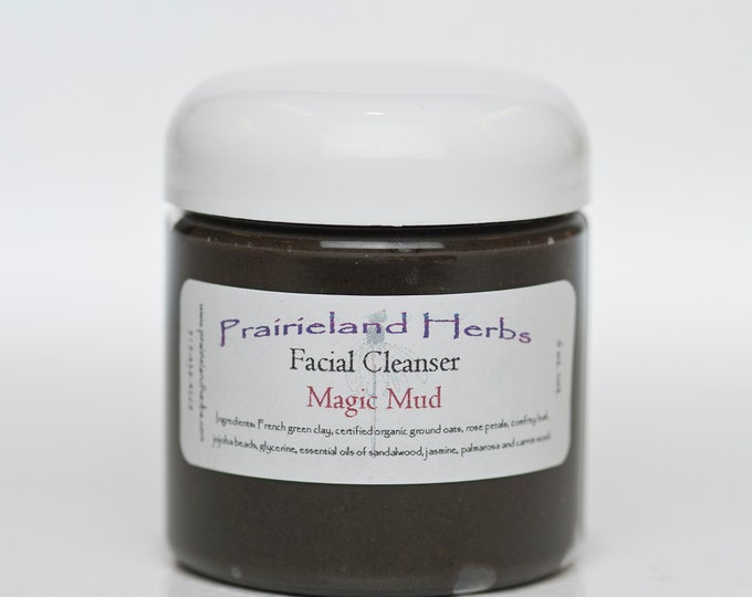 Magic Mud - organic all natural clay based exfoliating facial masque and cleanser