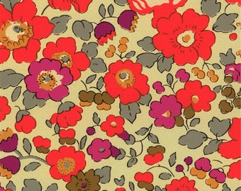 Printed fabric Liberty pattern Liberty Betsy fluorescent tea