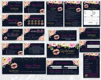 LipSense Marketing Kit, LipSense Marketing Bundle, LipSense Business Cards, LipSense Printables, LipSense Digital Files LSS01