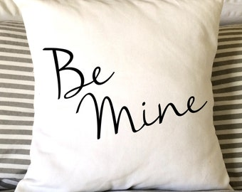 Valentine Pillow, Be Mine Pillow, Love Pillow, Throw Pillow, Decorative Pillow, Whimsical Pillow, 16x16