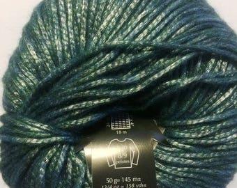 new shiny green PLASSARD NEXT yarn