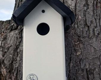 Bluebird house,PVC,cedar wood,outdoor birdhouse,fully functional,virtually maintenance free,post mount,original,made in USA