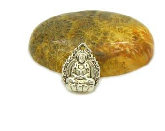 Avalokiteshvara 16x12mm silver charms