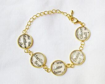 Anne of Green Gables Bracelet - Jewelry Jewellery Anne Shirley - Gilbert Blythe Gold Adjustable