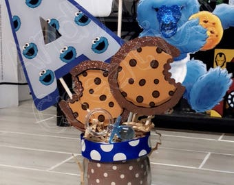 Cookie Monster Centerpieces, Cookie Monster Centerpieces, Baby Cookie  Monster, Cookie Monster Baby Shower