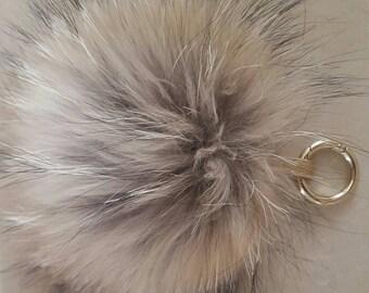 Large raccoon 18 cm tassel Keychain, bag charm
