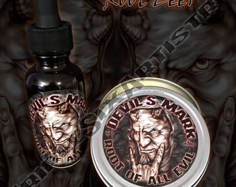 Devil's Mark Root Of All Evil Beard Oil Beard Balm Rootbeer