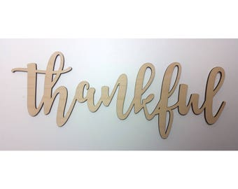 THANKFUL Wall Sign gifting thankful sign gift for mom gift for girlfriend gift for wife gift for daughter gift home decor gift for family