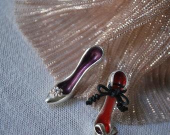 Heels Earrings/Silver Heels Stud Earrings/High Heels Earrings