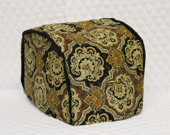 Black Paisley Quilted Toaster Cover