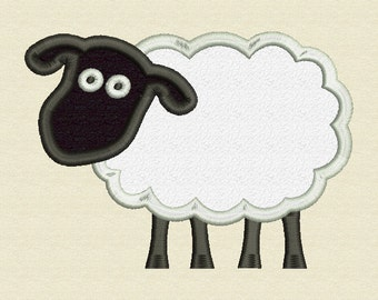 Sheep Applique Embroidery Design Instant Download