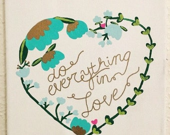 Do Everything In Love Canvas Wall Decor Art