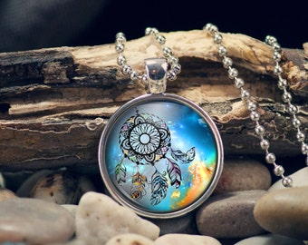 Dream Catcher Pendant Womens Jewelry Gift for Her Handmade Necklace
