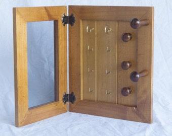 Jewellery Organiser - Wooden - 2 Panel - Earring Organiser, Necklace Holder