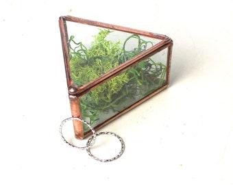 Wedding Ring Box / Jewelry Box /Wedding Gift/ Clear Glass Display Box / Ring Bearer Box