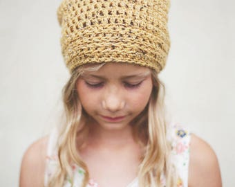 Yellow Slouch Hat for Women, Slouchy Hat, Youth Slouchy Beanie (Morgan) READY TO SHIP