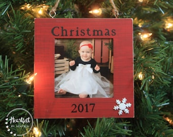 Photo Christmas Ornament Personalized Christmas Ornament Photo Christmas Gift Custom Christmas Ornament Photo Ornament Rustic Frames