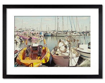 Summer pier in Akre, Israel -wall decor photography - Fine art for any plase - canvas or paper print in sizes 8x12, 12x18, 18x24 or 24x36