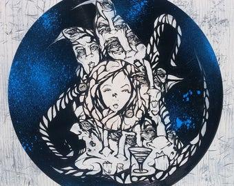 12'' Vinyl Art (Blue Wreck)