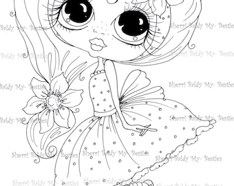 INSTANT DOWNLOAD Digital Digi Stamps Big Eye Big Head Dolls Digi Scan0001 2 Little QT Besties By Sherri Baldy