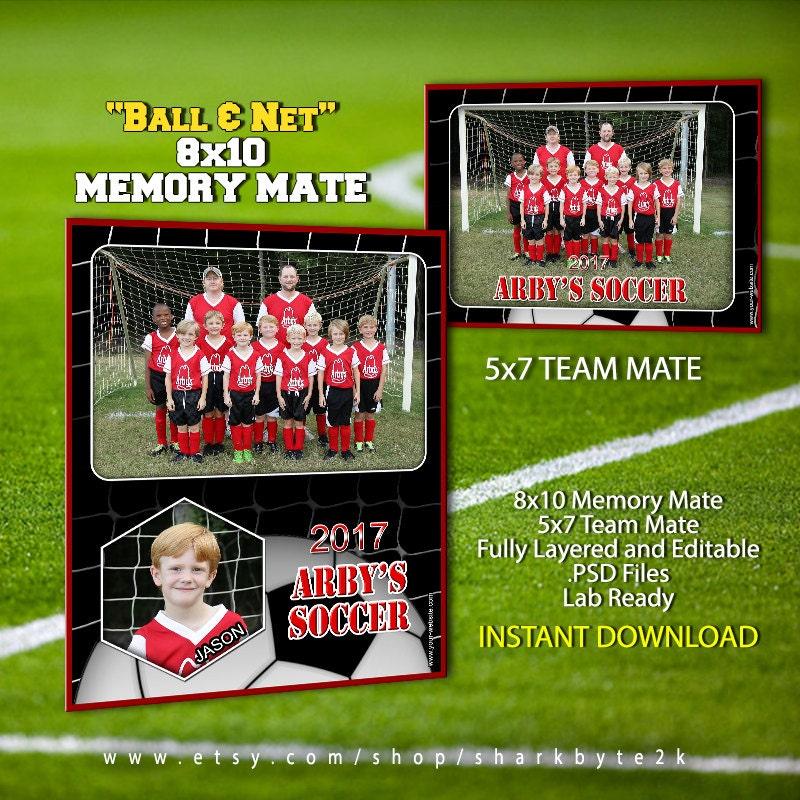 2017 futbol deportes memoria Mate plantilla para Photoshop pelota y ...