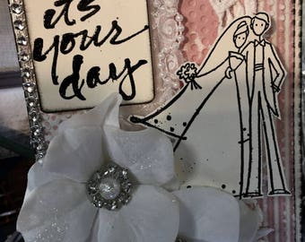 YOUR DAY Handmade Wedding or Anniversary Card