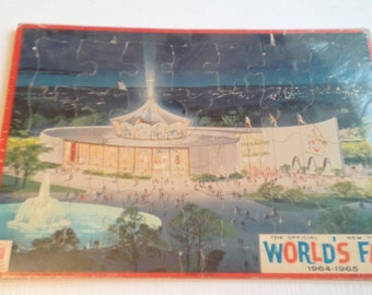 Vintage Cardboard Puzzle From the World's Fair 1964-1965