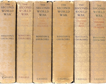 CHURCHILL, Winston. The Second World War. (6 Volumes - All FIRST EDITIONS - With Dust Jackets - 1948-54)