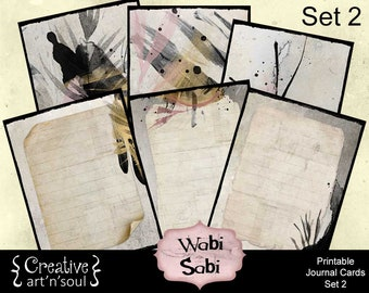 Wabi Sabi Printable Journal Cards Set 2