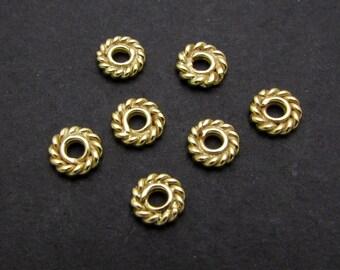 4 Pcs, 5mm, 24k Gold Vermeil Spacers