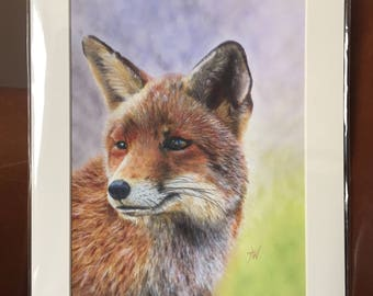 FOX giclee signed print of my original oil painting