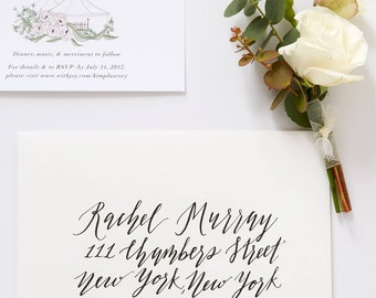 Envelope Addressing in Calligraphy | Custom Envelope Addressing for Weddings & Special Events