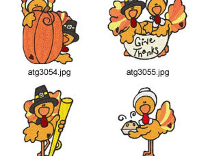 Turkey-Time ( 7 Machine Embroidery Designs from ATW ) XYZ17I