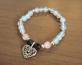 Opalite and Rose Quartz bracelet