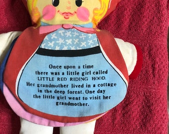 DanDee Imports cloth storybook doll 1977 Little Red Riding Hood