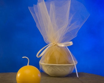 Queen bee Honey Small Beeswax Ball Candle