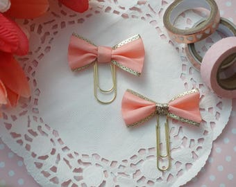 Coral and Gold Grecian-like Bow